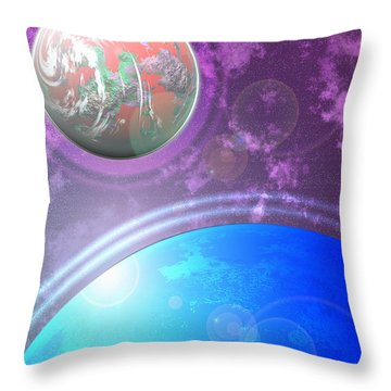 Galaxy 4 Throw Pillow by John Keaton