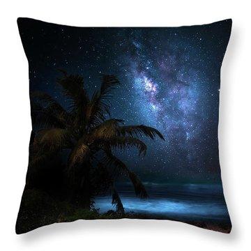 Galaxy Beach Throw Pillow