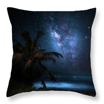 Galaxy Beach Throw Pillow by Mark Andrew Thomas