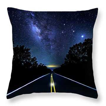 Throw Pillow featuring the photograph Galaxy Highway by Mark Andrew Thomas