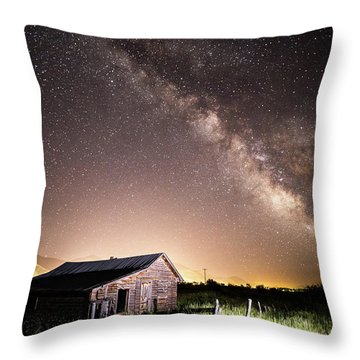 Galaxy In Star Valley Throw Pillow