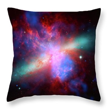 Throw Pillow featuring the photograph Galaxy M82 by Marco Oliveira