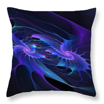 Galaxy Merger Throw Pillow