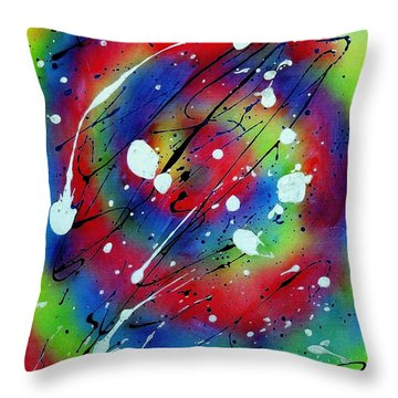 Galaxy Throw Pillow by Patrick Morgan