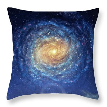 Galaxy Rising Throw Pillow by Don Dixon