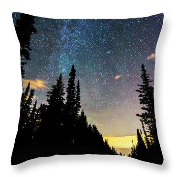 Throw Pillow featuring the photograph  Galaxy Rising by James BO Insogna