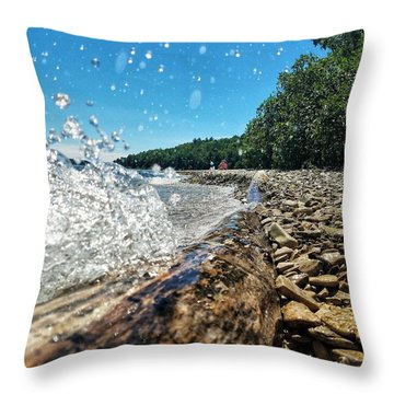 Galaxy Splash Throw Pillow