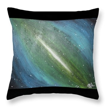 Galaxy's Eye Throw Pillow by Cyrionna The Cyerial Artist