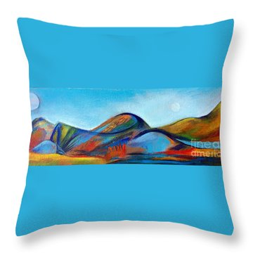 Galaxyscape Throw Pillow by Elizabeth Fontaine-Barr