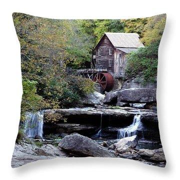 Throw Pillow featuring the photograph Galde Creek 2 by Ann Bridges