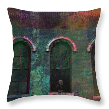 Galesburg Windows 1 Throw Pillow