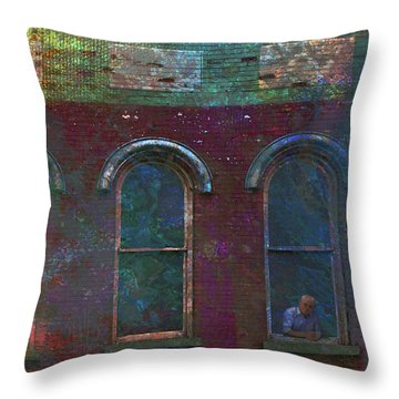 Galesburg Windows 2 Throw Pillow
