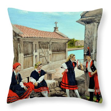 Galicia La Bella Throw Pillow by Tony Banos