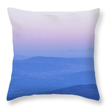 Galilee Mountains Sunset Throw Pillow by Yoel Koskas