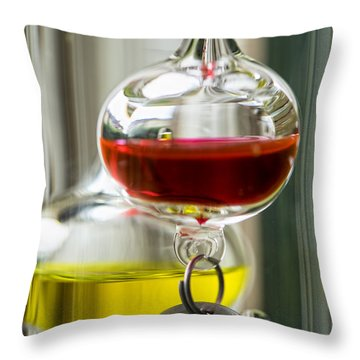 Throw Pillow featuring the photograph Galileo Thermometer by Jeremy Lavender Photography