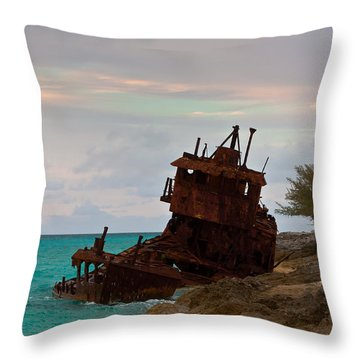 Gallant Lady Aground Throw Pillow