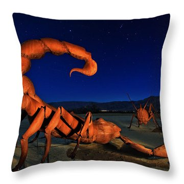 Galleta Meadows Estate Sculptures Borrego Springs Throw Pillow