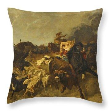 Gallic Pillagers Throw Pillow