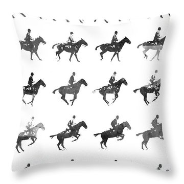 Warmblood Horse Throw Pillows