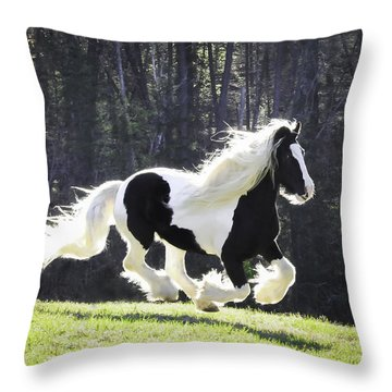 Galloping Gypsy Throw Pillow