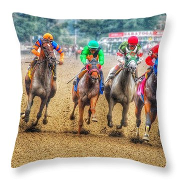 Galloping Throw Pillow