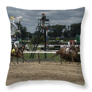 Galloping Out Painting Throw Pillow