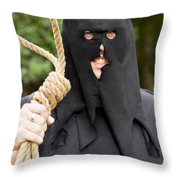 Gallows Hangman With Noose Throw Pillow by Jorgo Photography - Wall Art Gallery