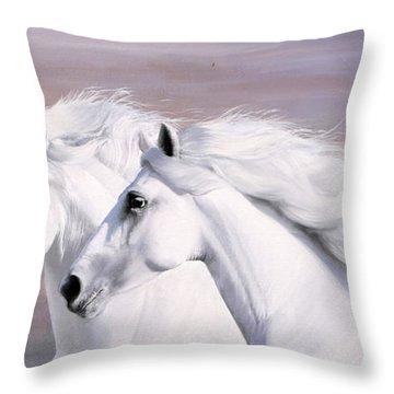 Galoppo Nel Vento Throw Pillow