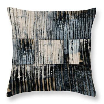 Throw Pillow featuring the mixed media Galvanized Paint Number 1 Horizontal by Carol Leigh