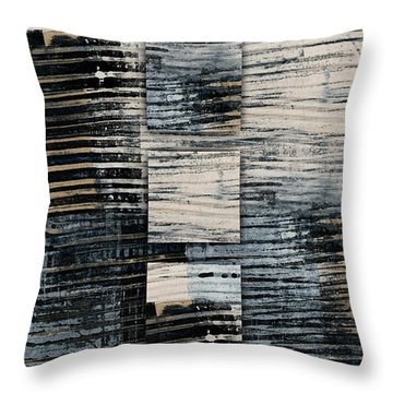 Throw Pillow featuring the photograph Galvanized Paint Number 1 Vertical by Carol Leigh