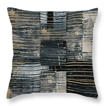 Throw Pillow featuring the photograph Galvanized Paint Number 2 Vertical by Carol Leigh