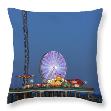 Galveston Pier  Throw Pillow