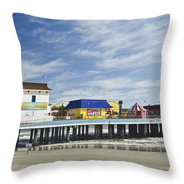 Galveston Pleasure Pier Throw Pillow