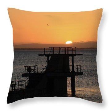 Galway Bay Sunrise Throw Pillow