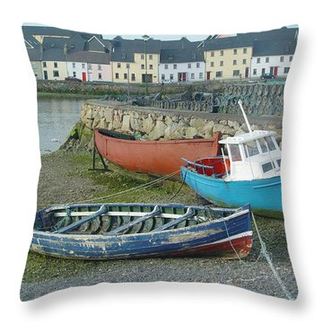 Galway Boats Throw Pillow