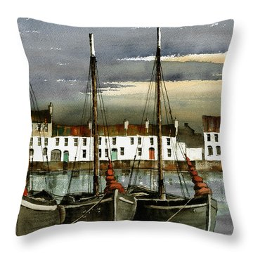 Galway.. Hookers In The Cladagh Throw Pillow