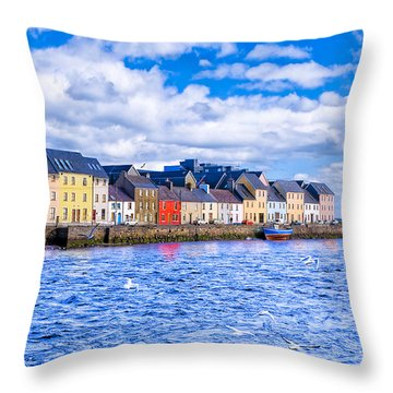 Galway On The Water Throw Pillow by Mark E Tisdale
