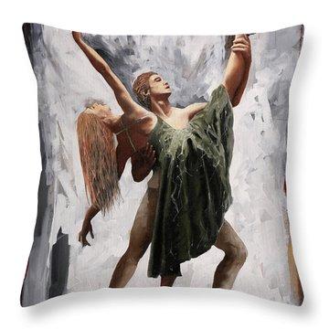 Gambe E Braccia Throw Pillow