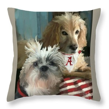 Game Day Throw Pillow by Carrie Joy Byrnes