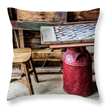 Game Of Checkers Throw Pillow by M G Whittingham