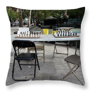 Game Of Chess Anyone Throw Pillow