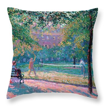 Park Bench Throw Pillows