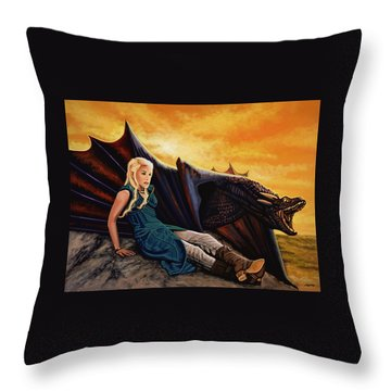 Game Of Thrones Painting Throw Pillow