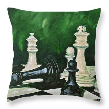 Game Over Throw Pillow by Herschel Fall
