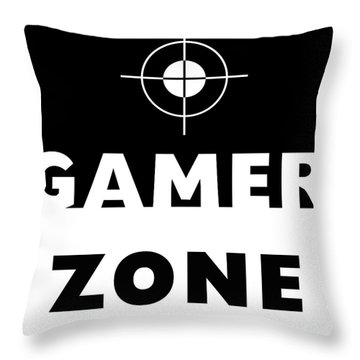 Throw Pillow featuring the mixed media Gamer Zone- Art By Linda Woods by Linda Woods