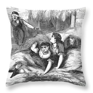 Games: Hide And Seek, 1887 Throw Pillow by Granger