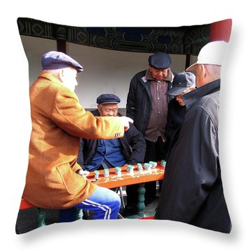 Throw Pillow featuring the photograph Games In China by Marti Green
