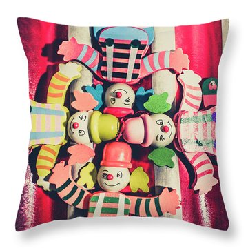 Games Room Of Wooden Circus Play Throw Pillow