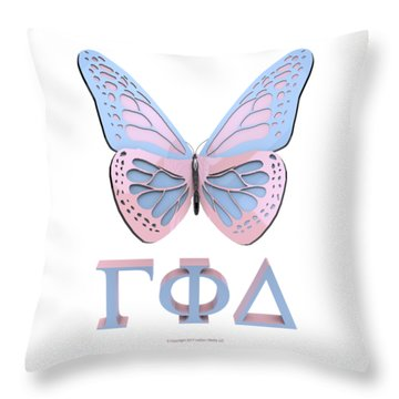 Gamma Butterfly Wings 3d Throw Pillow