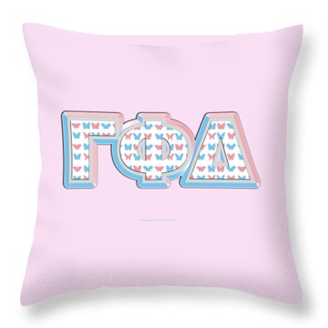 Gamma Phi Delta Greek Throw Pillow